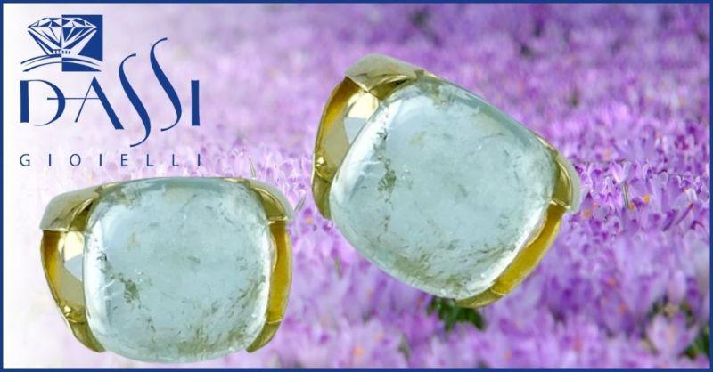 DASSI Gioielli - Promozione vendita online Anello in argento 925 dorato e acquamarina grezza
