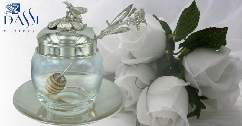 DASSI Gioielli - Offerta vendita online idee regalo porta miele argento 925 con cucchiaio miele