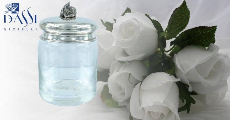 DASSI Gioielli - Promozione vendita online zuccheriera in cristallo e argento 800 decorato