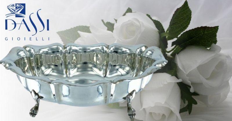 DASSI Gioielli - Offerta online zuccheriera ovale argento 800 a barchetta lavorata con piedini
