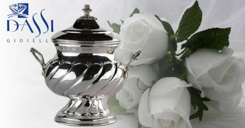 DASSI Gioielli - Promozione zuccheriera idea regalo per cerimonia in argento 800 made in Italy
