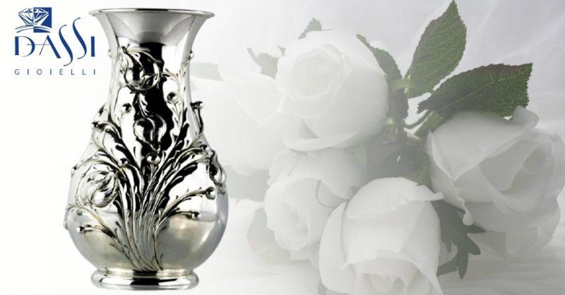DASSI Gioielli - Offerta idea regalo per cerimonia VASO CON BACCHE IN RILIEVO ARGENTO 800