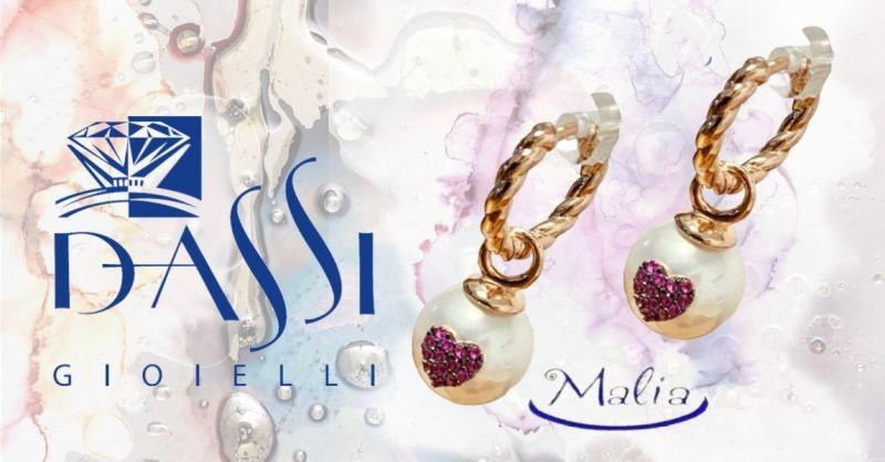 DASSI Gioielli - Offerta gioielli Cheap and Chic MALIA orecchini a cerchio argento 925 con perla