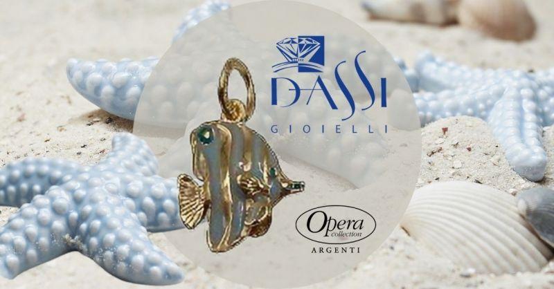 Offerta online Ciondolo in argento 925 dorato e smalto a forma di pesciolino Opera collection