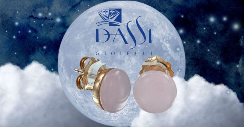 Promozione vendita online orecchini in argento con quarzo rosa montatura a NUDO taglio rotondo