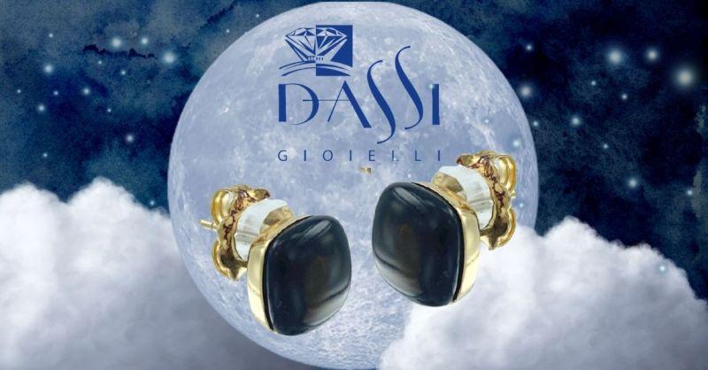Offerta orecchini argento con quarzo fumé taglio carrè gioielli con pietre montatura a NUDO