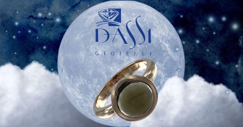 Promozione vendita online anello in argento 925 dorato con quarzo fumé incassato a cipollina