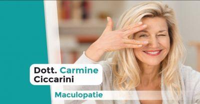 dr carmine ciccarini offerta maculopatia oculare occasione cura patologie oculari perugia