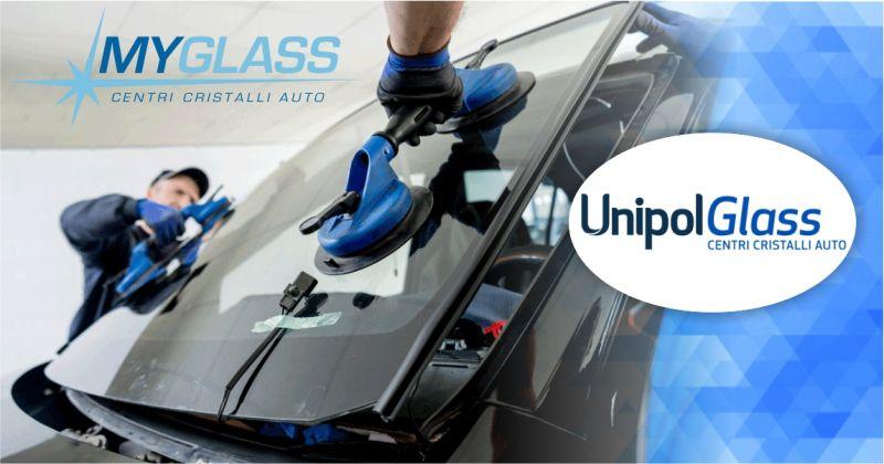 UnipolGlass centri cristalli auto - offerta servizio di riparazione e sostituzione parabrezza