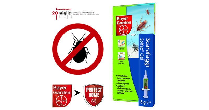 PROTECT HOME Solfac Siringa Gel per Scarafaggi