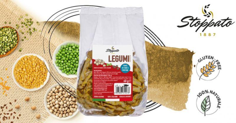 Offerta Vendita Snack Chips di legumi Senza Glutine - Occasione Vendita on linea Mini gallette mais e legumi dietetiche