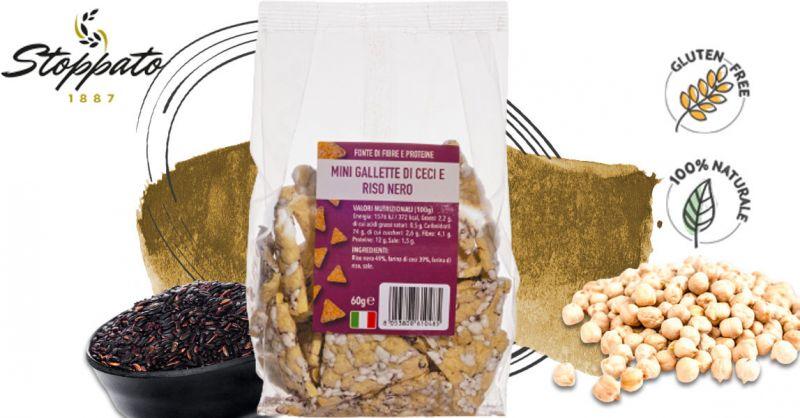 Offerta Mini gallette di riso nero e ceci Vegan - Occasione Vendita Chips di riso nero e ceci senza Glutine