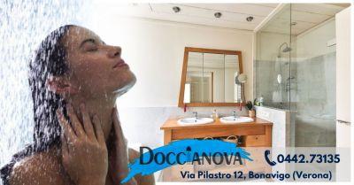 offerta produzione box doccia su misura occasione vendita box doccia in cristallo provincia verona