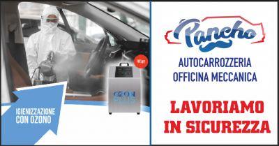 pancho offerta igienizzazione abitacolo auto occasione igienizzazione vettura la spezia