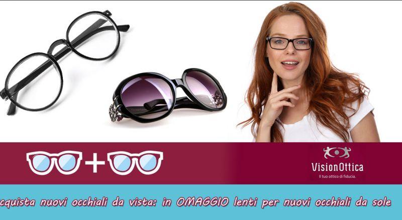 Vision Ottica Saracino – offerta occhiali da vista completo di lenti Taranto – omaggio coppia lenti per occhiali da sole Taranto