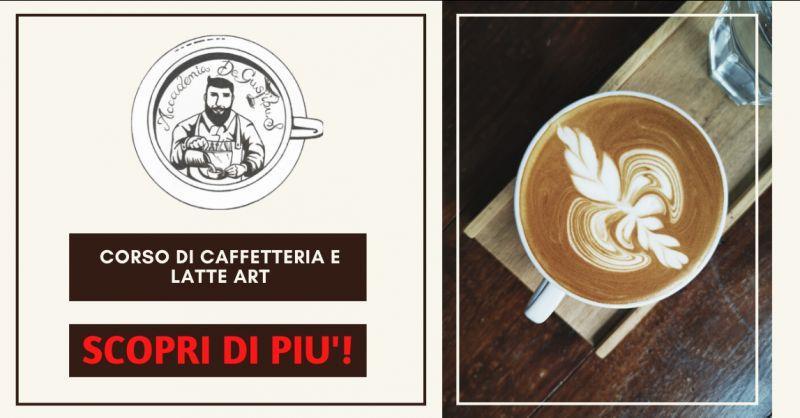 ACCADEMIA DEGUSTIBUS - offerta corsi di caffetteria e latte art roma