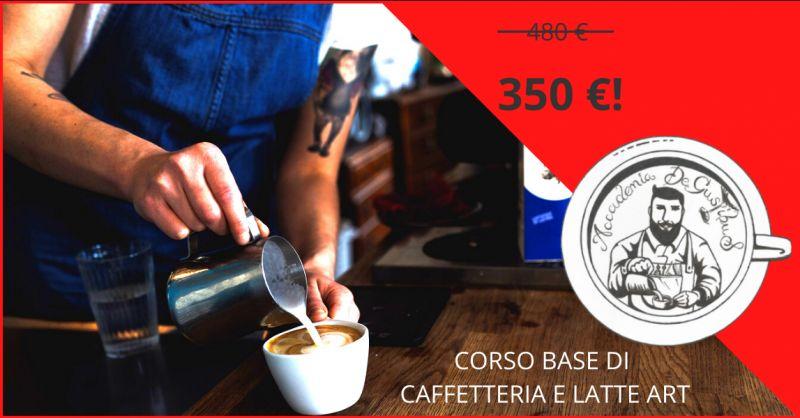 ACCADEMIA DEGUSTIBUS - Offerta corso base di caffetteria e latte art roma