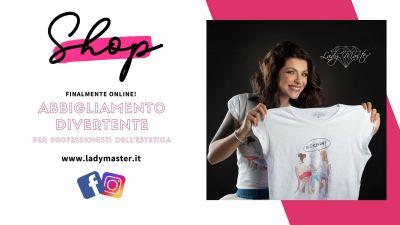 lady master t shirt shop online offerta vendita abbigliamento professionisti estetica e onicotecnica