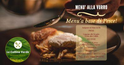 offerta menu fisso a base di pesce fresco promozione ristorante piatti della tradizione calabrese