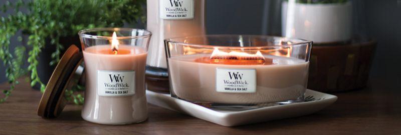 Promozione vendita candele profumate Woodwick Lucca e Versilia - Musetti Garden