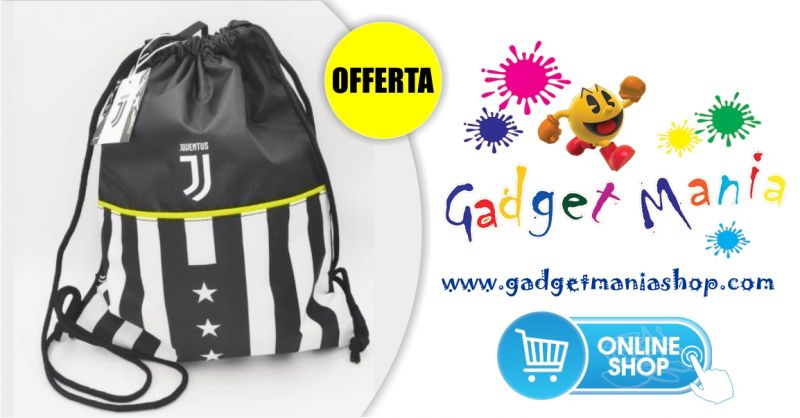 Gadget Mania Shop online - offerta speciale sacca tempo libero ufficiale Juventus