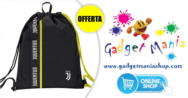 Gadget Mania Shop online - offerta speciale sacca sportiva ufficiale Juventus