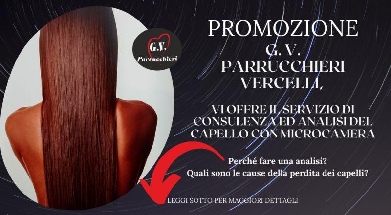 Offerta controllo delle perdita dei capelli tricologia a Vercelli a Novara – Offerta analisi del capello con microcamera a Vercelli a Novara