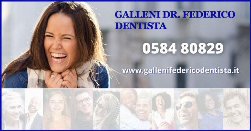 promozione trattamenti estetica dentale per un sorriso bello e sano Versilia - DR GALLENI FEDERICO