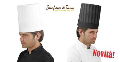 offerta fornitura capi abbigliamento professionale promozione cappello da chef in tessuto stampato