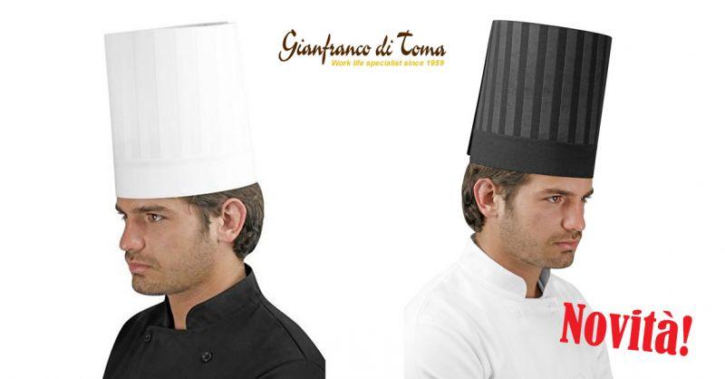 Offerta fornitura capi abbigliamento professionale – promozione cappello da chef in tessuto stampato