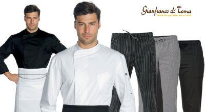 offerta fornitura capi abbigliamento chef promozione abbigliamento professionale chef online