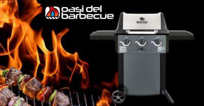 offerta barbecue con griglia in acciaio porcellanato vicenza occasione barbecue modello a gas gem 320 vicenza