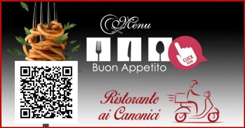 Ristorante Ai CANONICI - Offerta Servizo Take Away ordinazione telefonica e Food Delivery APP