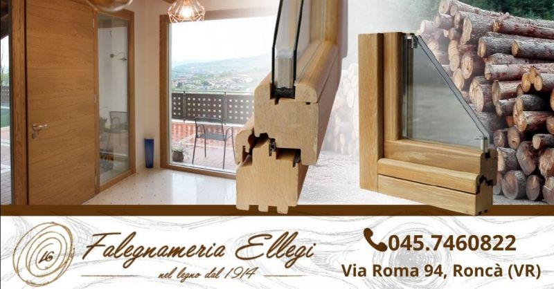 Offerta fornitura finestre in legno - Occasione produzione serramenti in legno alluminio su misura Verona provincia