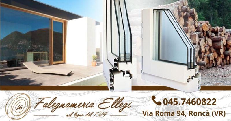 Occasione produzione finestre artigianali in legno - Offerta vendita serramenti in legno alluminio provincia Verona