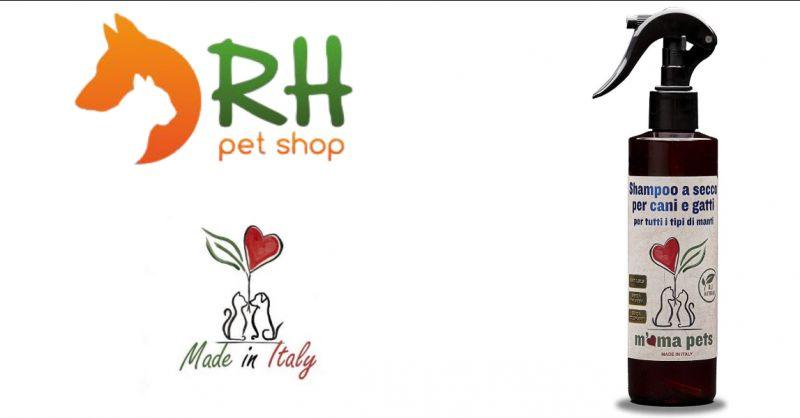 RH PetShop - Occasione vendita online migliore shampoo secco cani, shampoo secco gatti