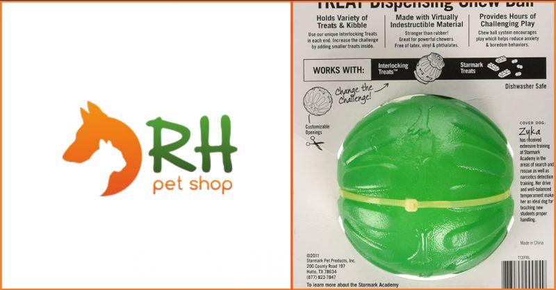Occasione vendita online Starmark chew ball compatibile con varietà piccoli bocconcini per cani