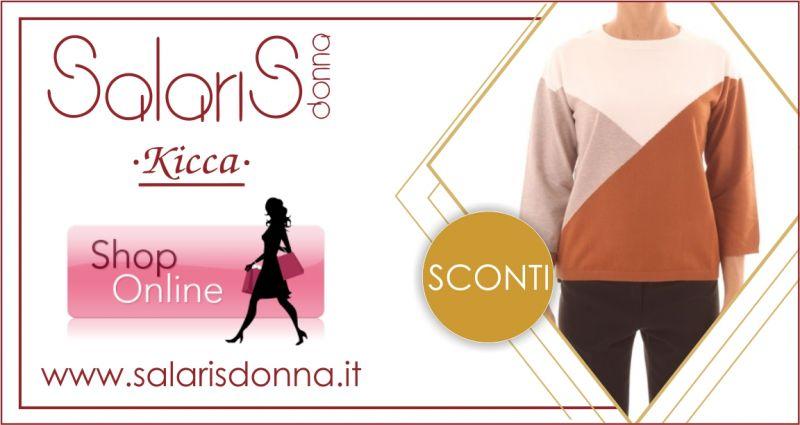 SALARIS DONNA -  offerta maglia donna con motivo geometrico Linea Emme di Marella