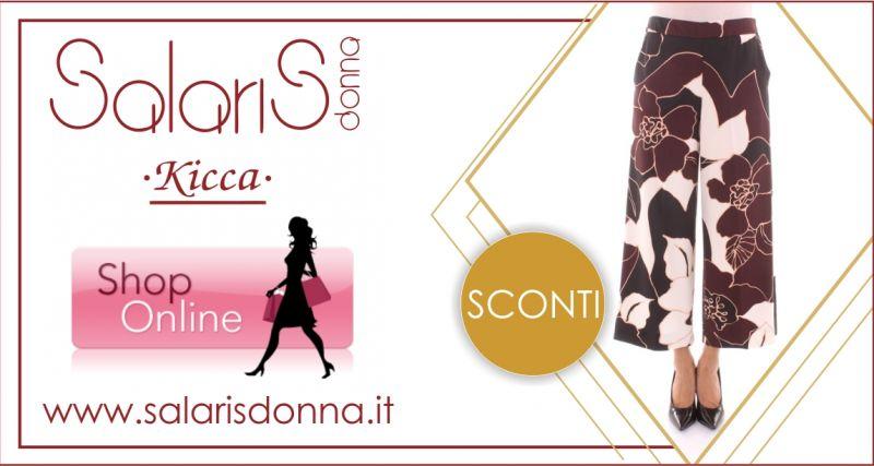 SALARIS DONNA -  offerta pantalone modello culotte fantasia floreale Linea Emme di Marella