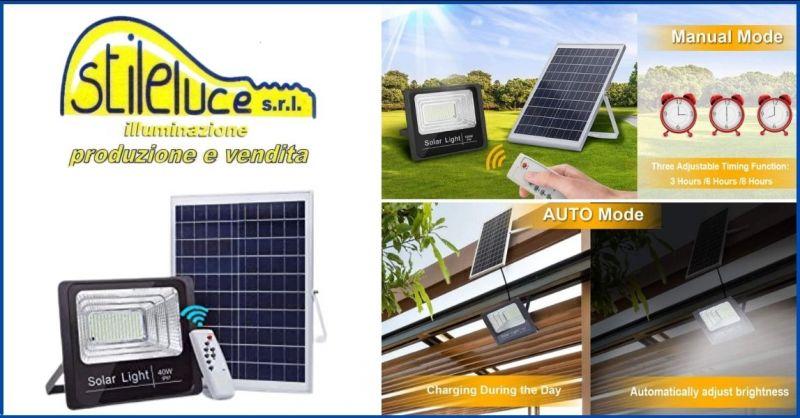occasione faro led esterno con pannello solare Lucca e Versilia - promozione illuminazione esterna led