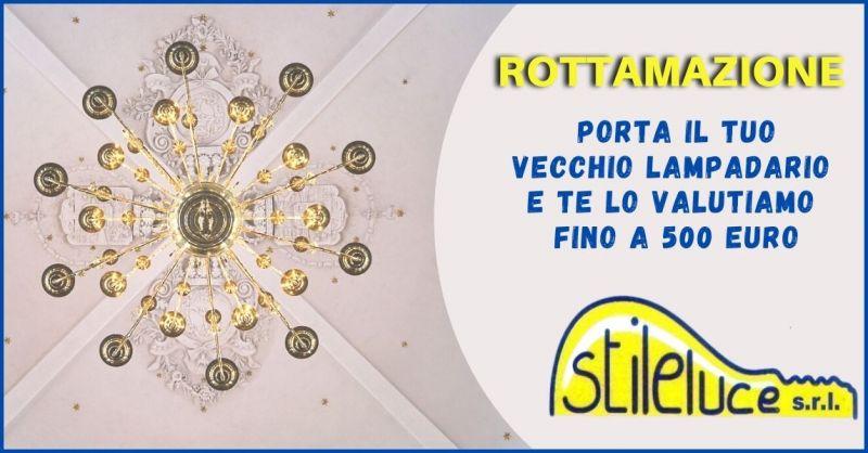 promozione rottamazione vecchi lampadari Lucca e Versilia - STILELUCE