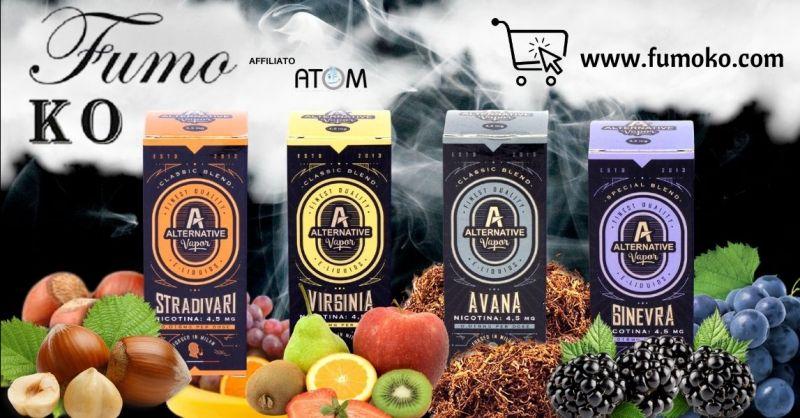 FUMO KO - Promozione gusti fruttati liquidi Alternative Vapor per sigaretta elettronica Padova