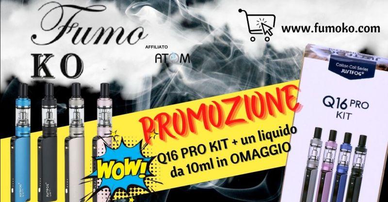 Promozione shop online sigaretta elettronica Justfog Q16 Pro Kit - Occasione Justfog Q16 pro in offerta Rovigo