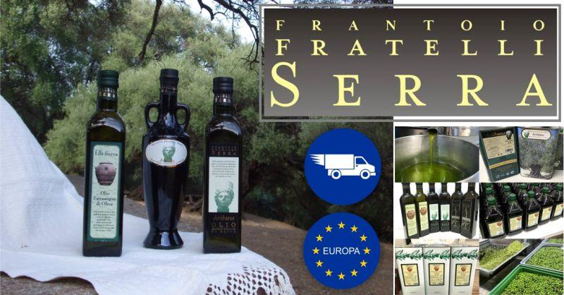 Frantoio Oleario dei F.lli Serra - offerta vendita olio extravergine di oliva sardo spedizione in Europa