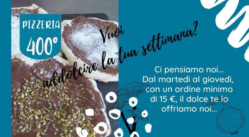 Occasione pizza dolce con nutella in omaggio a Vercelli a Novara – Offerta pizza al taglio consegna a domicilio a Vercelli a Novara
