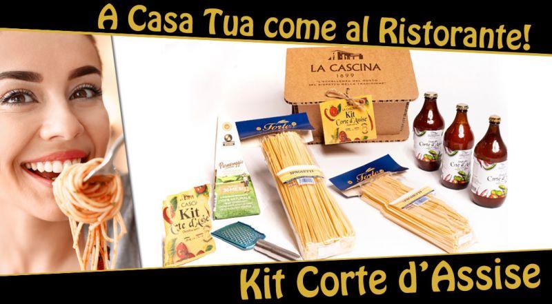 La Cascina 1899 - Offerta kit corte d'assise - promozione spaghetti alla corte d'assise