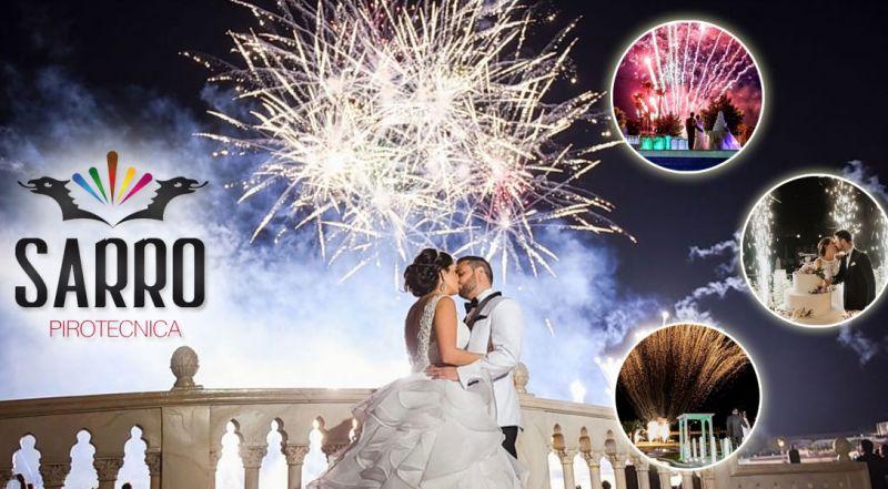 Offerta spettacoli pirotecnici e piromusicali per matrimonio – promozione spettacoli fuochi d'artificio matrimonio