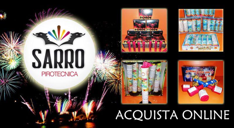 Pirotecnica Sarro – offerta ecommerce fuochi d'artificio per capodanno – promozione articoli e fuochi d'artificio per capodanno