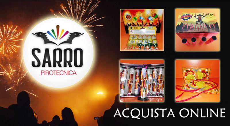 Pirotecnica Sarro – offerta capodanno giochi e fuochi d'artificio – promozione acquisto online fuochi d'artificio capodanno