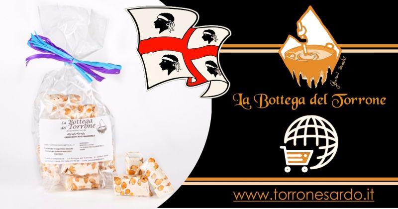 La Bottega del Torrone shop online - offerta torroncini sardi alla mandorla tostata confezione 200 gr